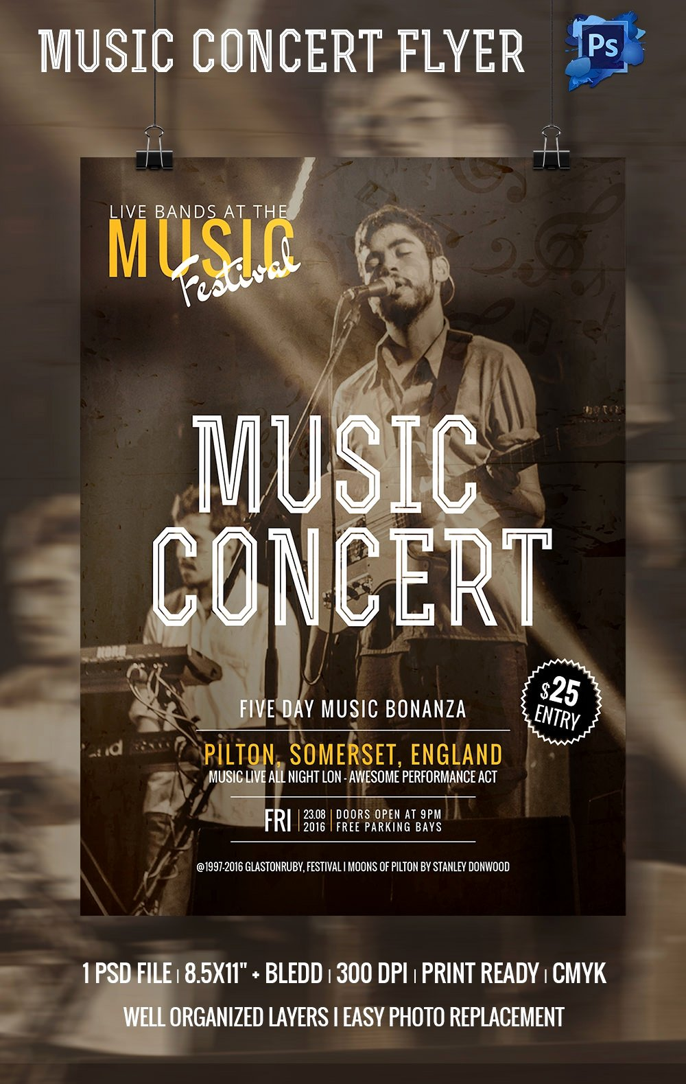 Free Concert Poster Templates Elegant 135 Psd Flyer Templates – Free Psd Eps Ai Indesign