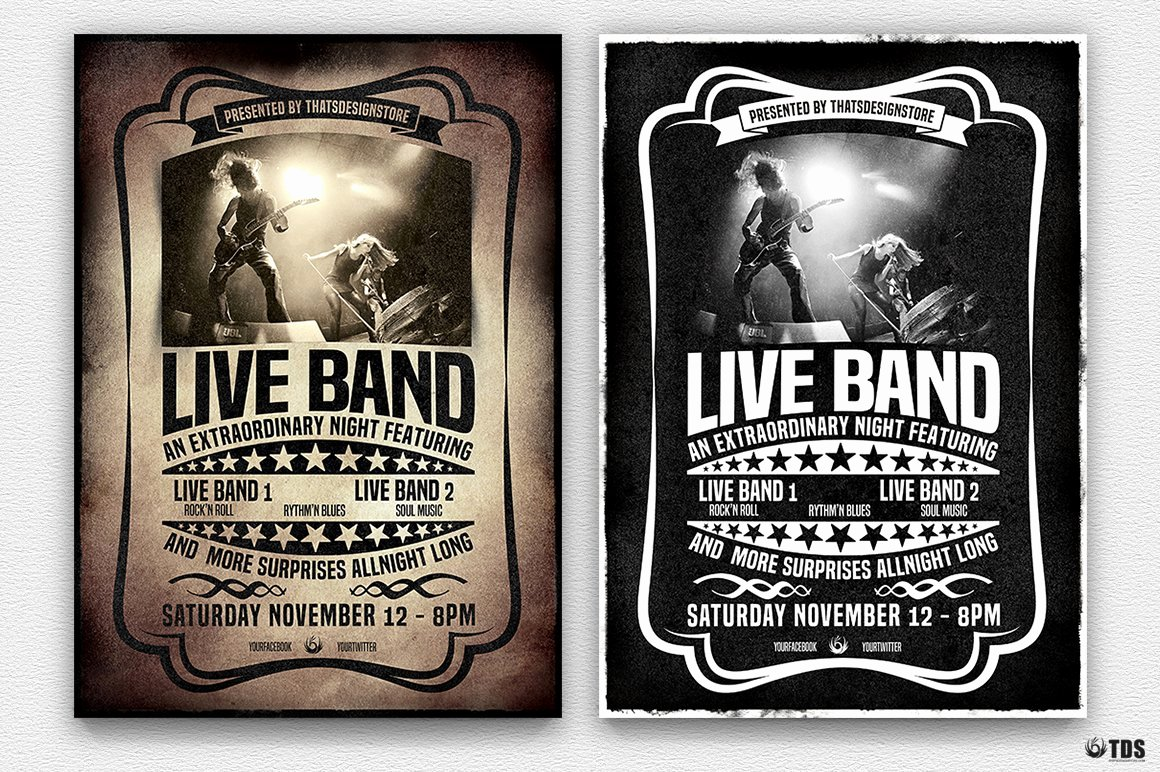 Free Concert Poster Templates Fresh Live Concert Flyer Template V1 Flyer Templates