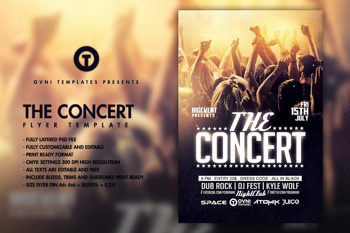 Free Concert Poster Templates Lovely the Concert Band Flyer Template Flyer Templates