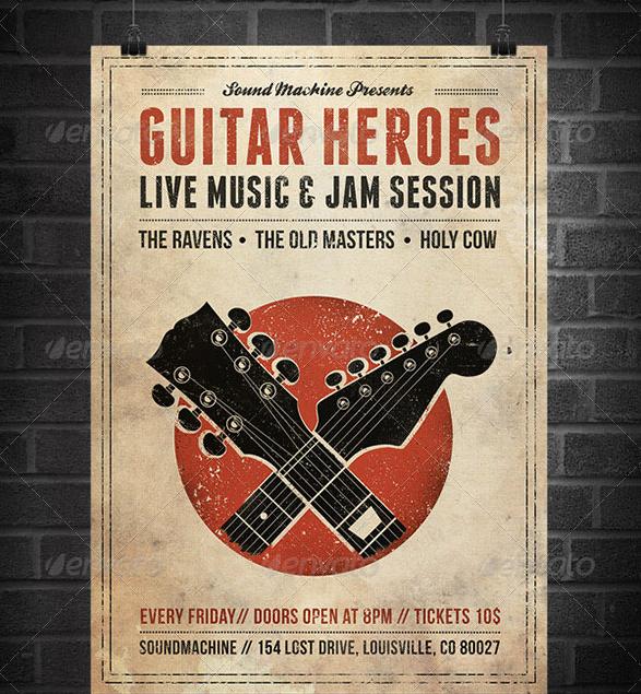 Free Concert Poster Templates Unique 25 Best Free & Premium Music Poster Templates Designmaz