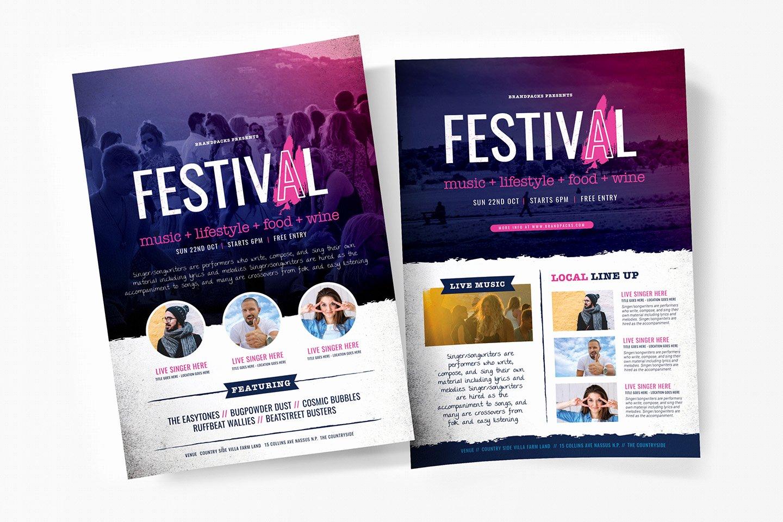 Free Concert Poster Templates Unique Free Festival Concert Flyer Templates Psd Ai & Vector