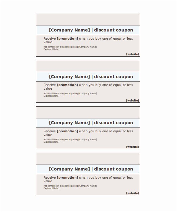 Free Coupon Template Word Awesome Blank Coupon Template – 32 Free Psd Word Eps Jpeg
