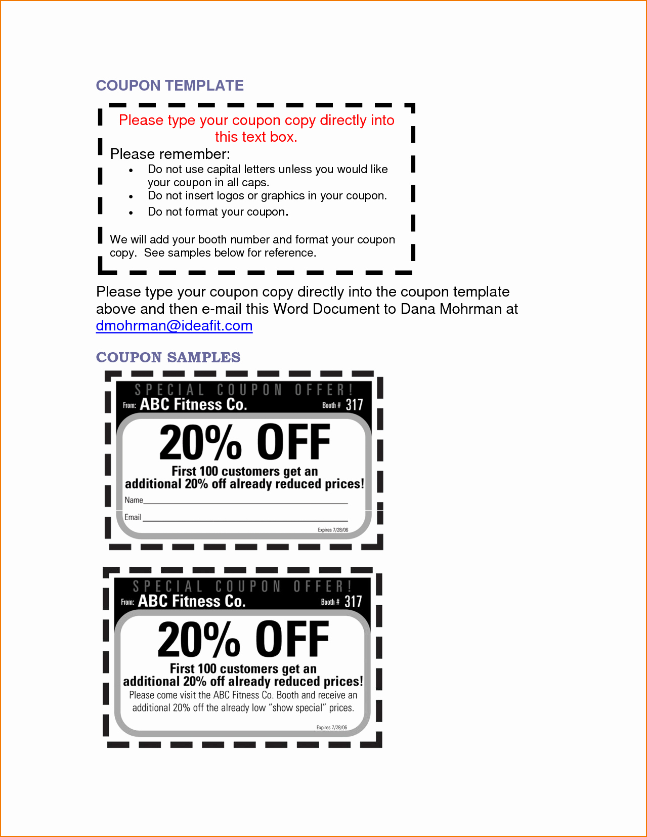 Free Coupon Template Word Beautiful 5 Microsoft Word Coupon Template