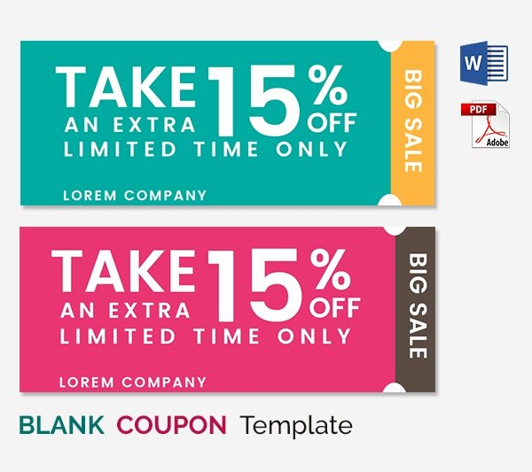 Free Coupon Template Word Inspirational Blank Coupon Templates – 26 Free Psd Word Eps Jpeg