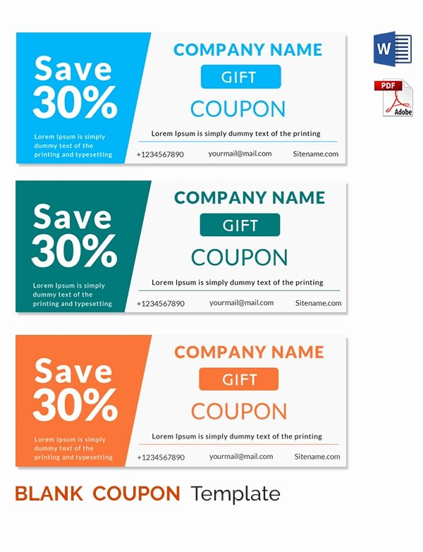 Free Coupon Template Word Lovely Blank Coupon Templates – 26 Free Psd Word Eps Jpeg