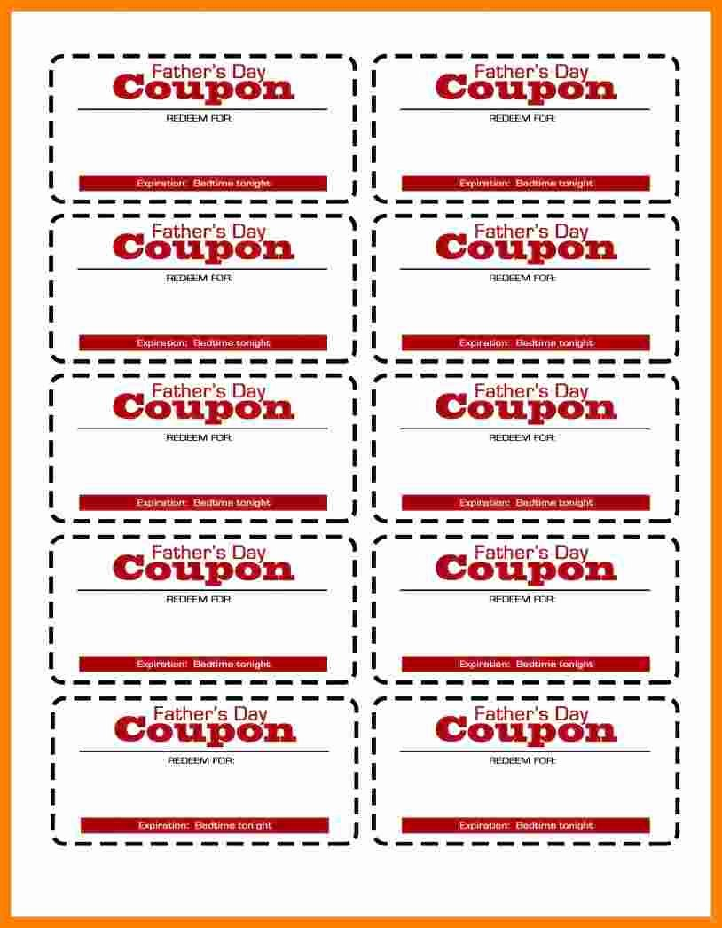 Free Coupon Template Word Unique 5 Free Coupon Template Word
