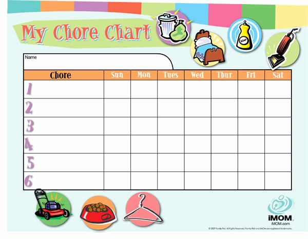 Free Customizable Chore Chart Best Of Customizable Chore Chart Imom