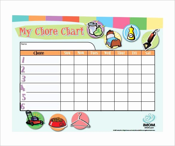 Free Customizable Chore Chart Elegant How to Make Good Schedule Using 5 Chore List Template Types