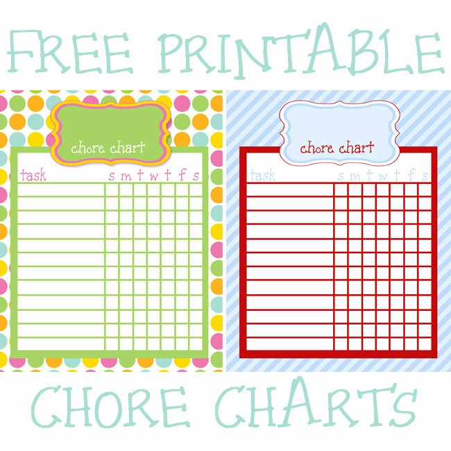 Free Customizable Chore Chart Fresh Friday S Freebie Printable Chore Charts