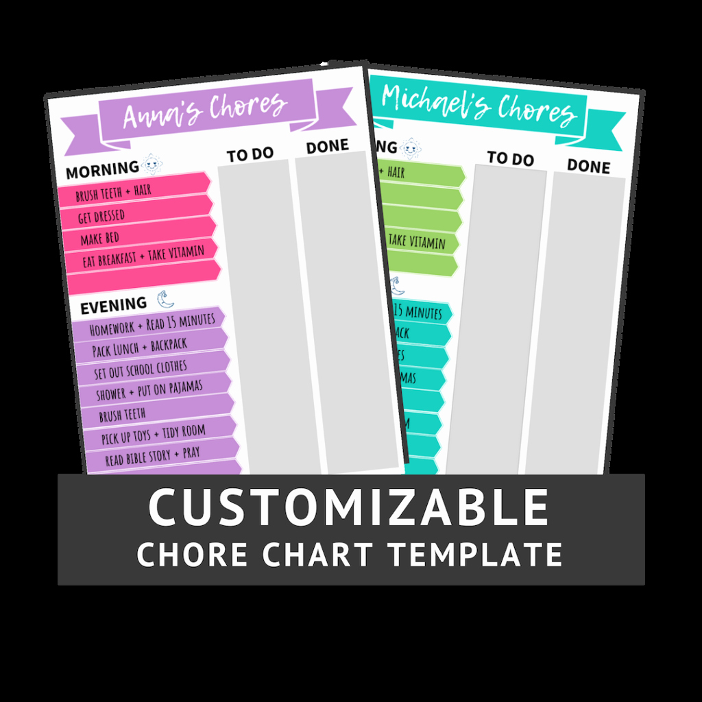Free Customizable Chore Chart Inspirational Diy Magnetic Chore Chart Customizable Chore Chart Template