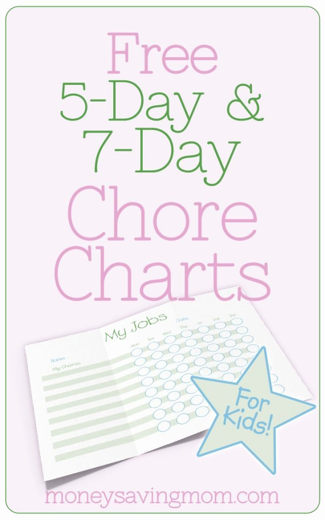 Free Customizable Chore Chart Lovely Household Management forms