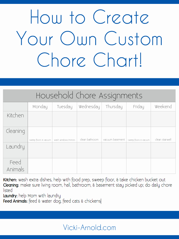 Free Customizable Chore Chart Luxury How to Create A Custom Chore Chart