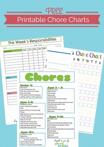 Free Customizable Chore Chart New Penny Pinchin Mom Downloadable forms