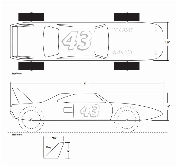 Free Derby Car Templates Beautiful 21 Cool Pinewood Derby Templates – Free Sample Example