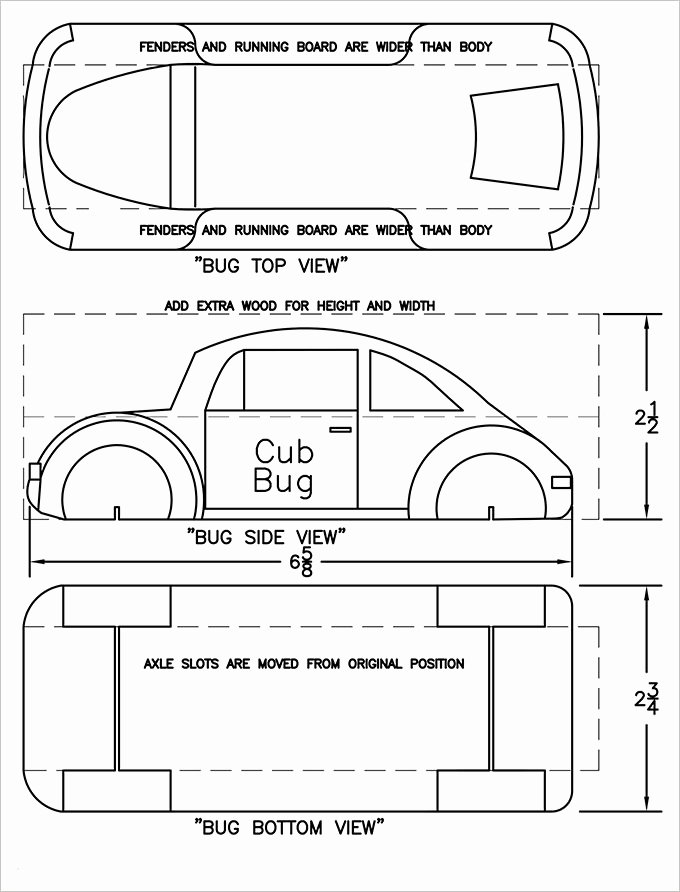 Free Derby Car Templates Luxury 27 Awesome Pinewood Derby Templates – Free Sample