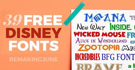 Free Disney Font Generator Lovely 39 Free Disney Fonts Moana Bfg Zootopia More Favorites