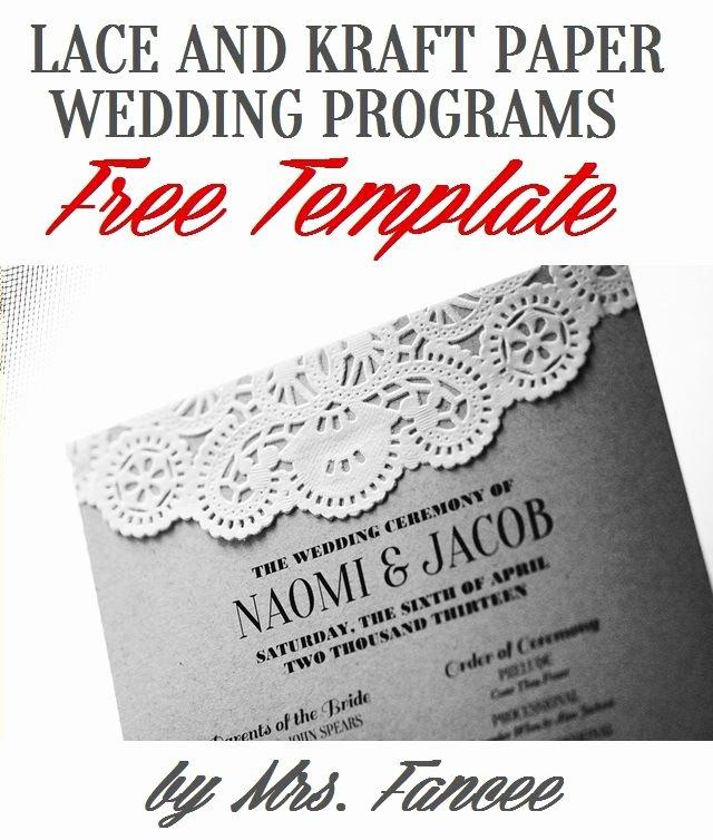 Free Diy Wedding Programs Templates Beautiful Wedding Program Template