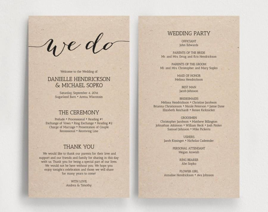 Free Diy Wedding Programs Templates Elegant Wedding Programs Printable Template Printable Program