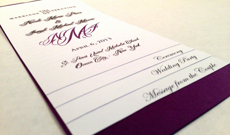 Free Diy Wedding Programs Templates Fresh Diy 5 Page Layered Wedding Program Template Monogram