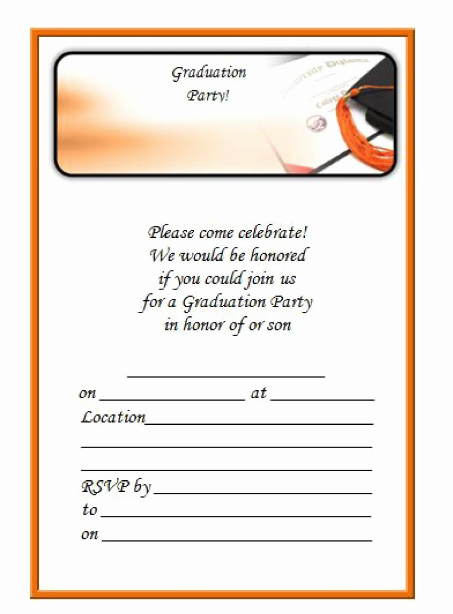 Free Downloadable Graduation Invitations Awesome 40 Free Graduation Invitation Templates Template Lab