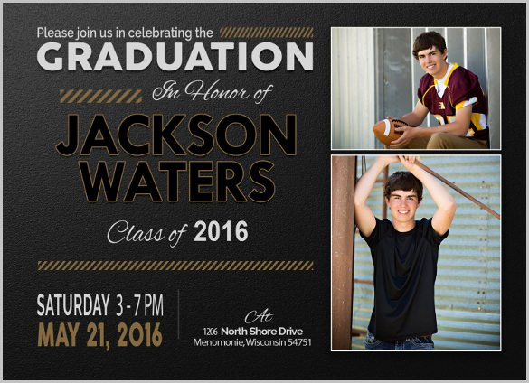 Free Downloadable Graduation Invitations Beautiful 25 Graduation Invitation Templates Psd Vector Eps Ai