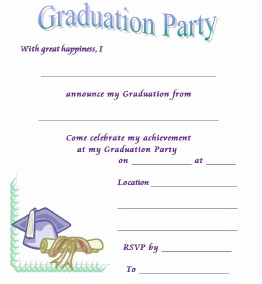 Free Downloadable Graduation Invitations Best Of 40 Free Graduation Invitation Templates Template Lab