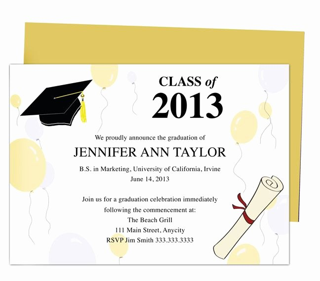 Free Downloadable Graduation Invitations Elegant 46 Best Printable Diy Graduation Announcements Templates