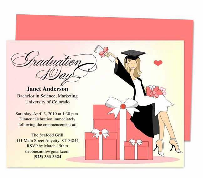 Free Downloadable Graduation Invitations Fresh Best 46 Printable Diy Graduation Announcements Templates