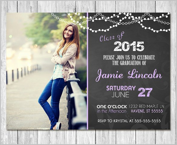 Free Downloadable Graduation Invitations New 25 Graduation Invitation Templates Psd Vector Eps Ai