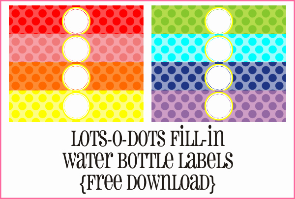 Free Downloadable Water Bottle Labels Beautiful the Crew Introducing Yra Rivera Piggy Bank Parties