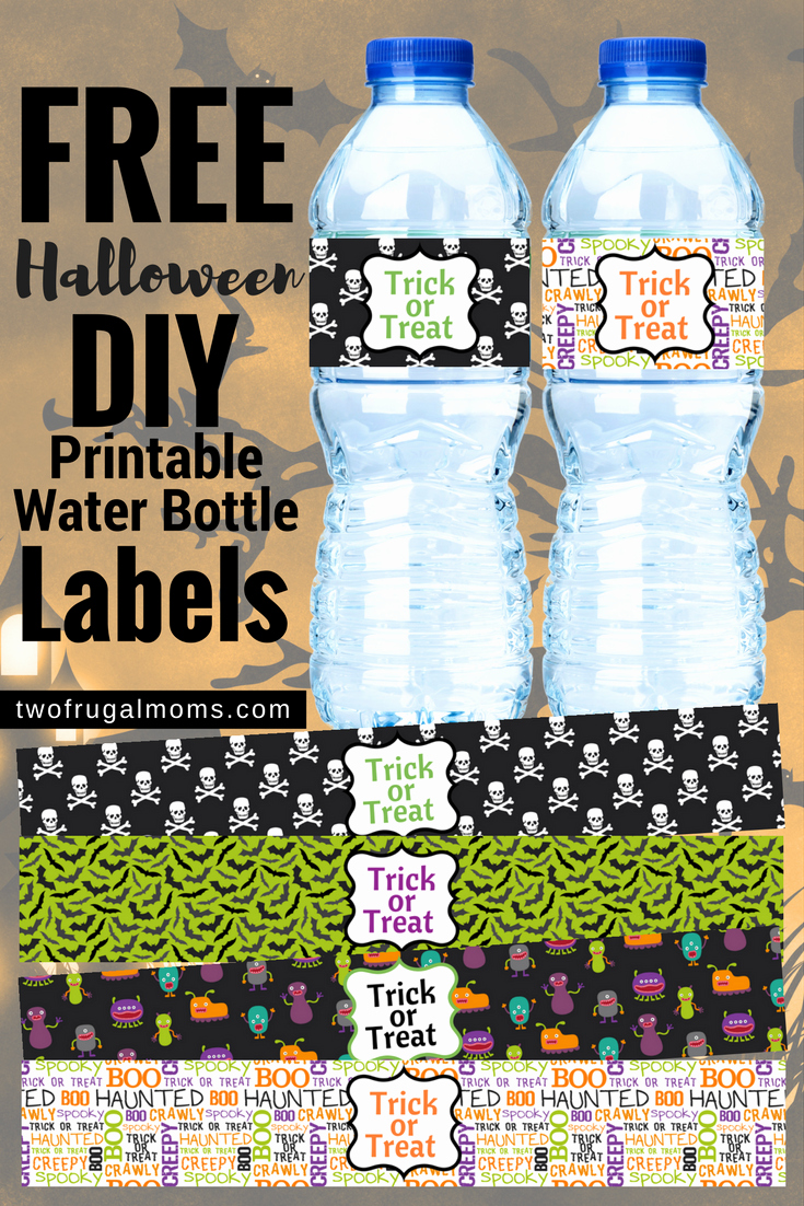Free Downloadable Water Bottle Labels Lovely Use these Free Halloween Diy Printable Water Bottle Labels