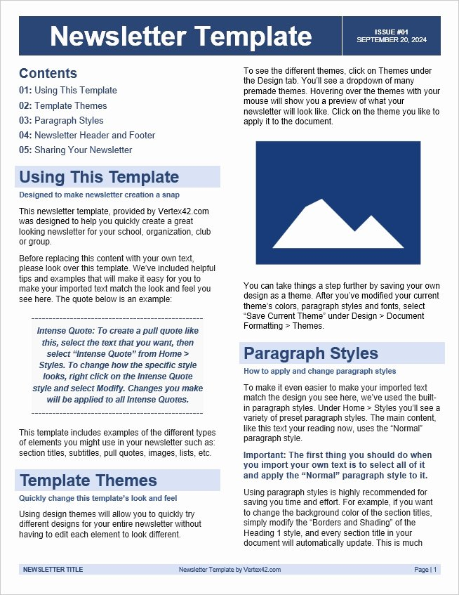 Free Downloadable Word Templates Best Of Free Newsletter Template Conscreens