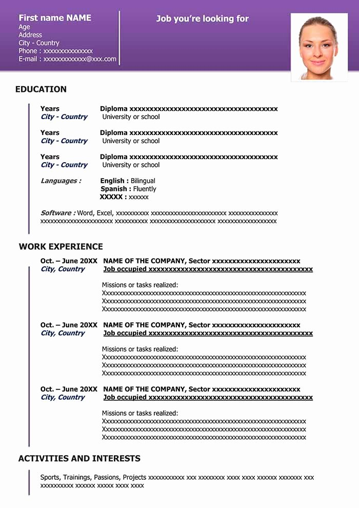 Free Downloadable Word Templates Fresh Free Downloadable Resume Template In Word