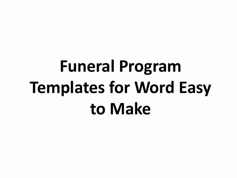 Free Downloadable Word Templates Inspirational Free Printable Funeral Program Template for Word to Download