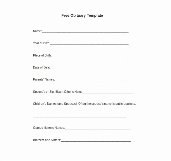 Free Downloadable Word Templates Lovely 10 Microsoft Word Obituary Templates Free Download