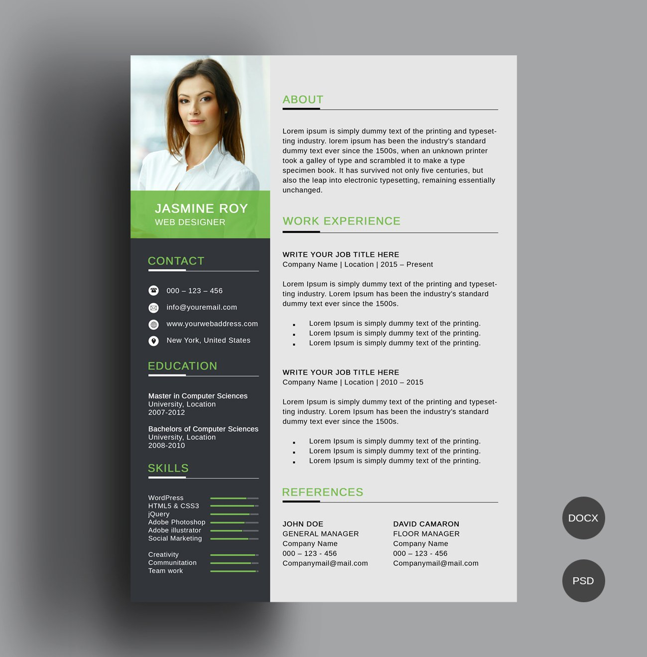 Free Downloadable Word Templates New Freebie – Clean Cv Resume Template Freebies