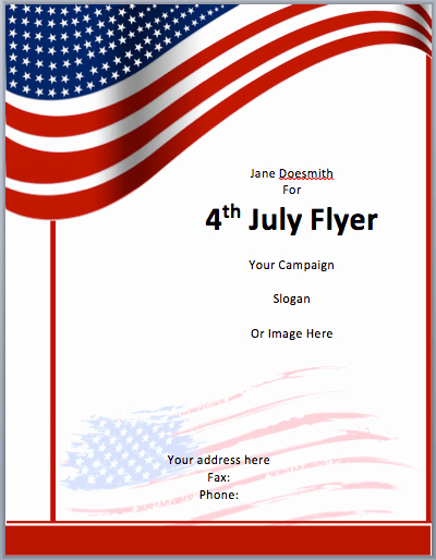 Free Downloadable Word Templates Unique American Flyer Template 4th July Free Flyer Templates