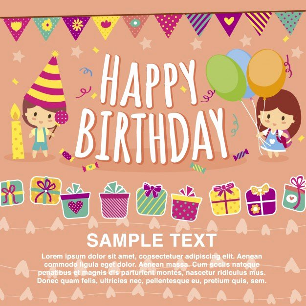 Free Downloads Happy Birthday Images Luxury Happy Birthday Card Template Vector