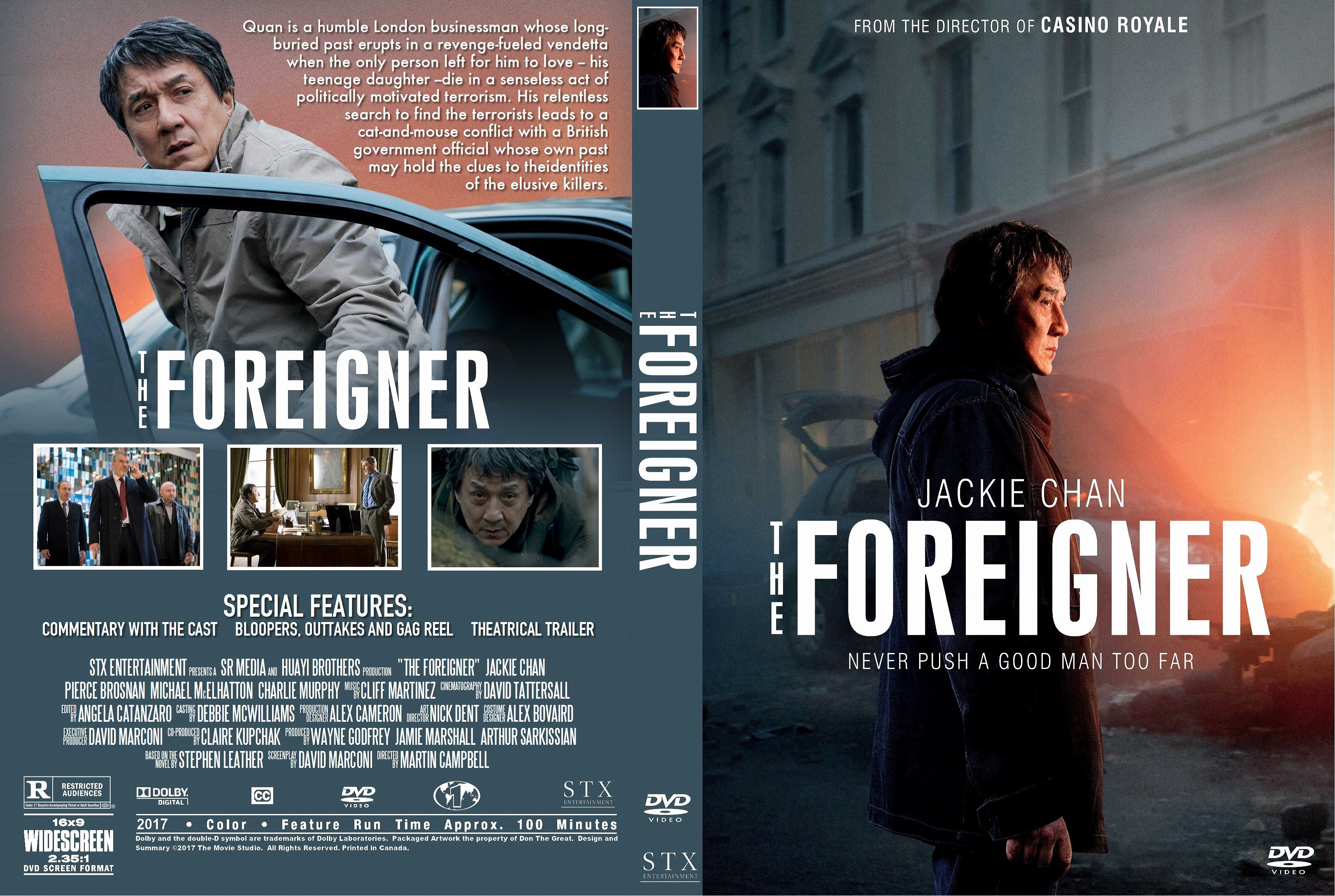 Free Dvd Cover Art Elegant the foreigner Dvd Cover Cover Addict Free Dvd Bluray