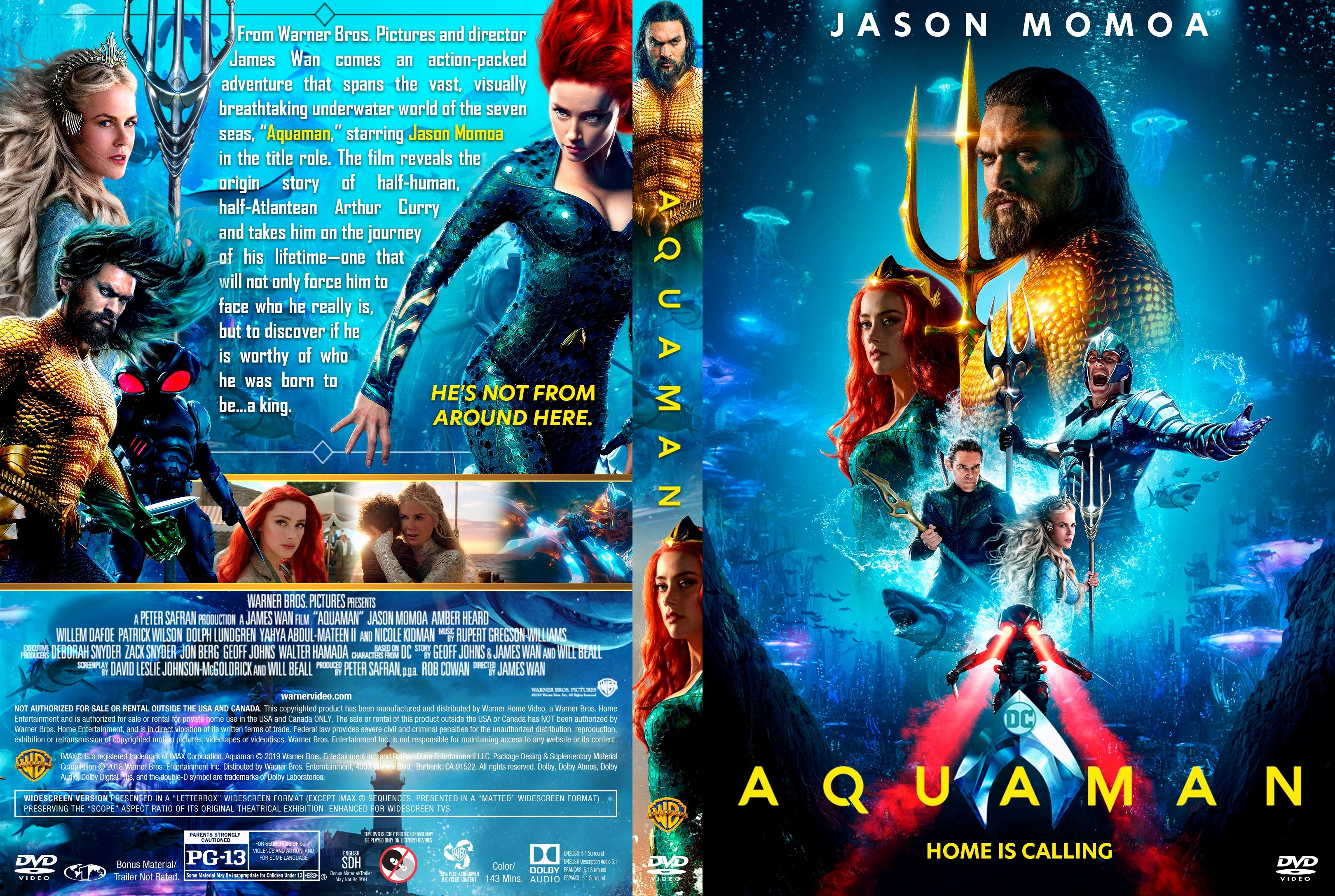 Free Dvd Cover Art Luxury Aquaman Dvd Cover