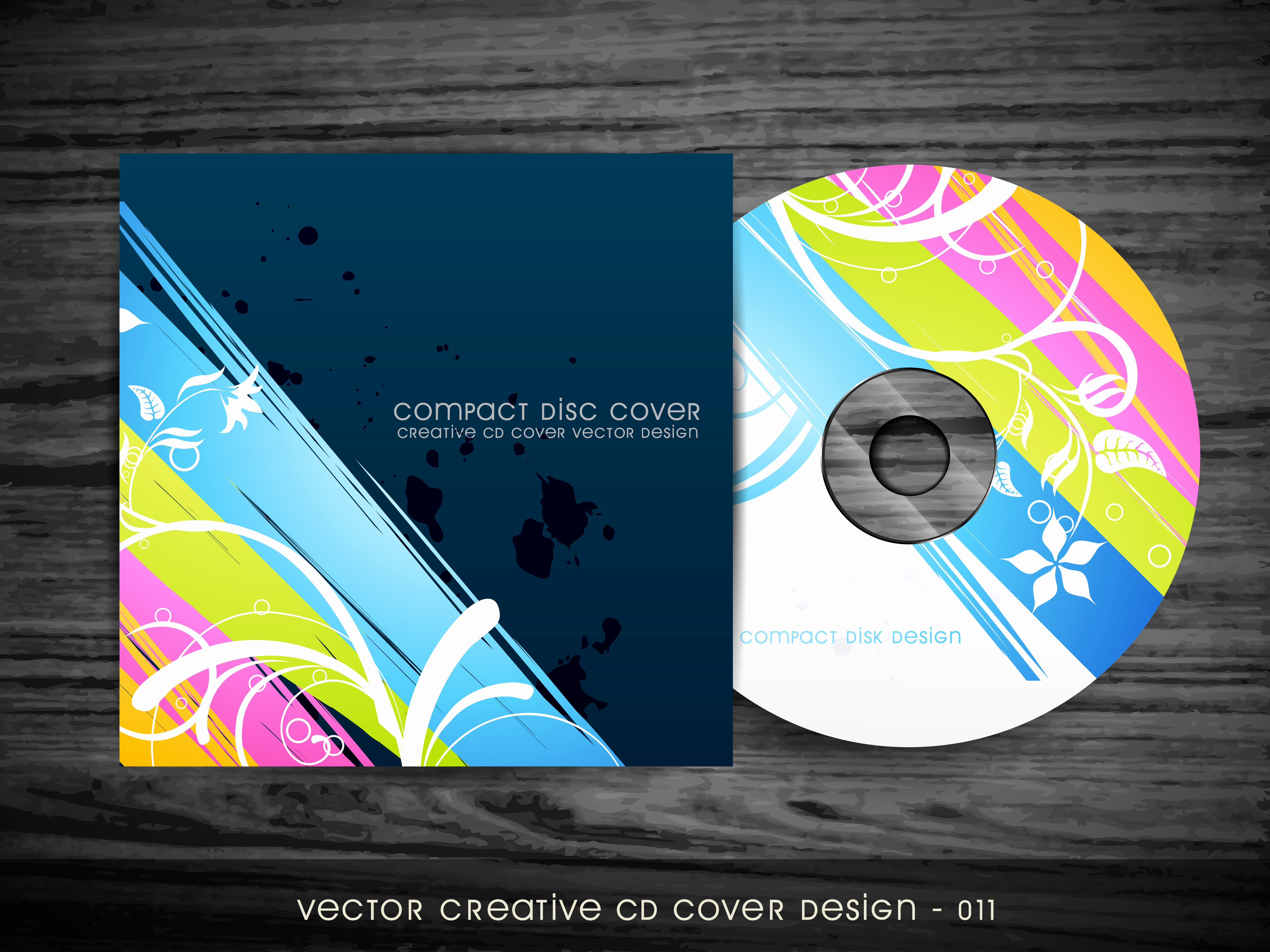 Free Dvd Cover Art New Colorful Cd Cover Design Download Free Vectors Clipart