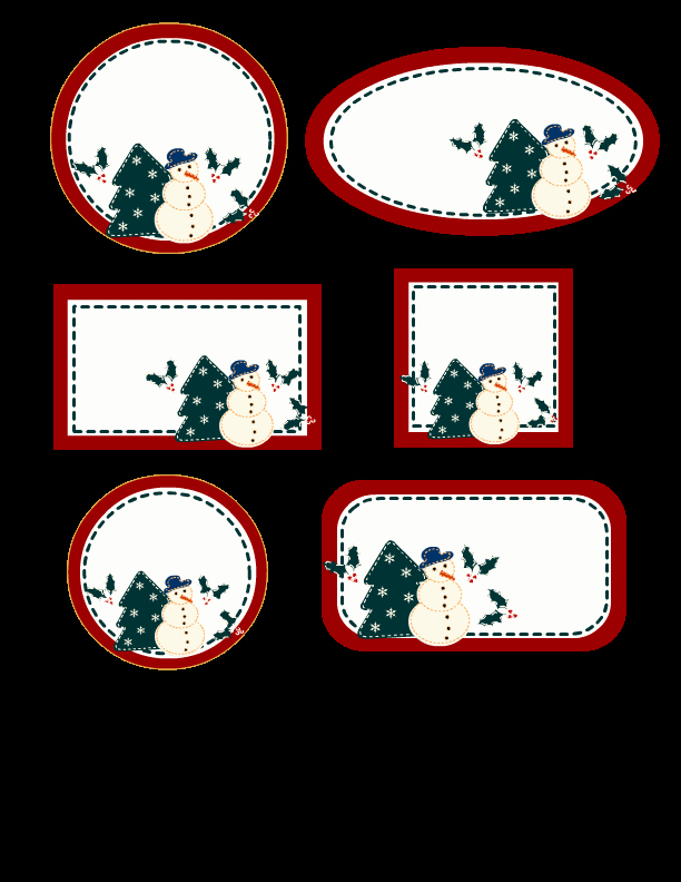 editable christmas labels in 6 different shapes free printable