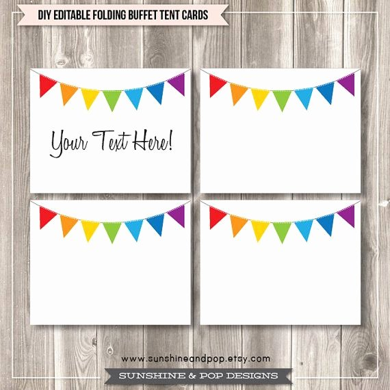 Free Editable Printable Labels Beautiful Free Editable Tent Cards and Buffet Labels Rainbow