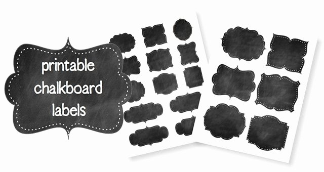 Free Editable Printable Labels Fresh Free Printable Chalkboard Labels