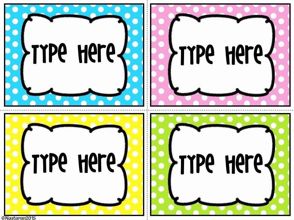 Free Editable Printable Labels Unique Editable Bright Polka Dots Labels Nastaran S Resources