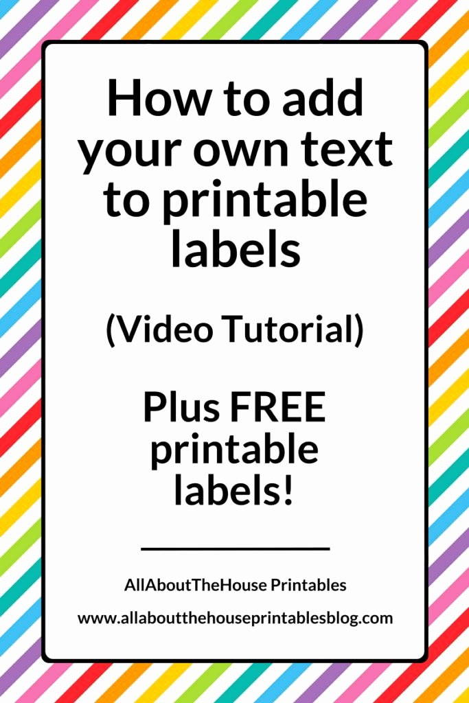Free Editable Printable Labels Unique How to Add Your Own Text to Printable Labels Plus Free