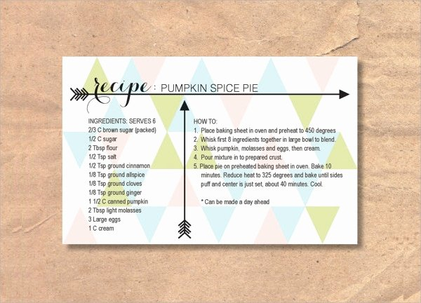 Free Editable Recipe Card Templates Awesome 27 Printable Recipe Card Free Psd Vector Eps Png
