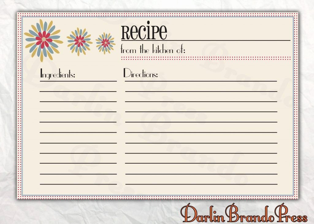 Free Editable Recipe Card Templates Awesome Free Editable Recipe Card Templates for Microsoft Word