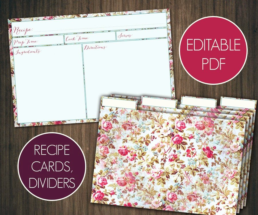 Free Editable Recipe Card Templates Beautiful Editable Recipe Cards Divider 4x6 Recipe Cards Printable