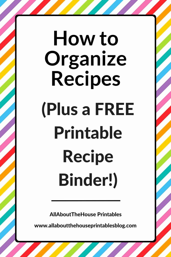 Free Editable Recipe Card Templates Beautiful How to organize Recipes Plus A Free Printable Recipe